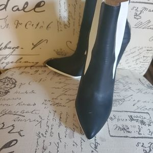 GX by Gwen Stefani Shoes - Black and White Ankle Boots